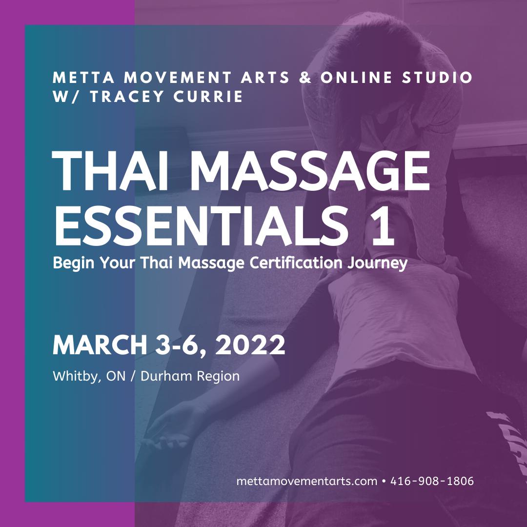 Thai Massage Essentials 1