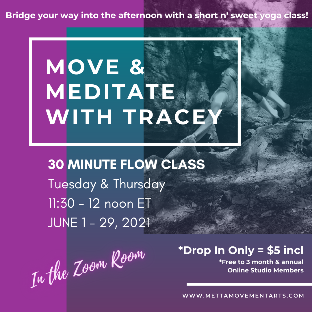 Monday's Move & Meditate Mini Class