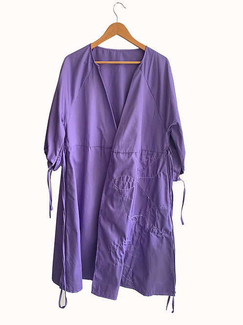 Vestido Transpasse Violeta Collab Dani Stuani