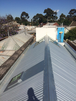 Zincalume Re Roof with new skylights