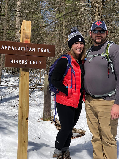 My Fiancee and I hiking on the AT