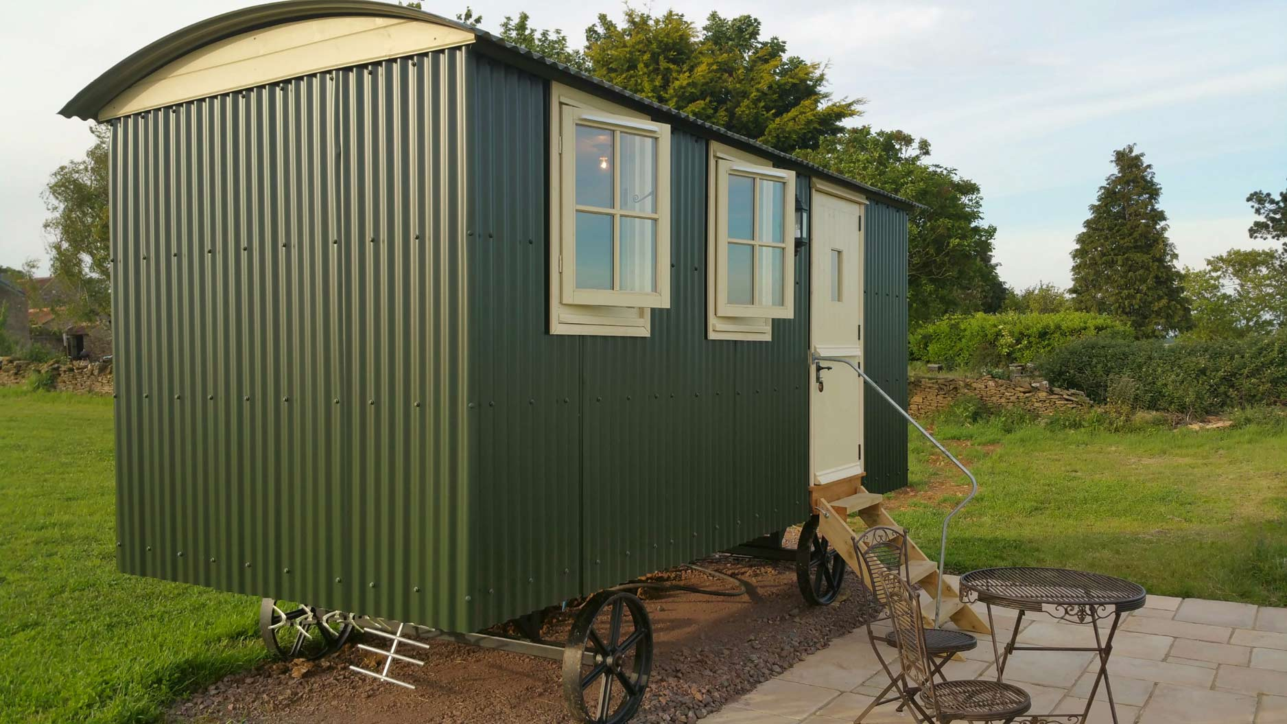 Outside-Shepherds-Hut-Bath-Somerset-2