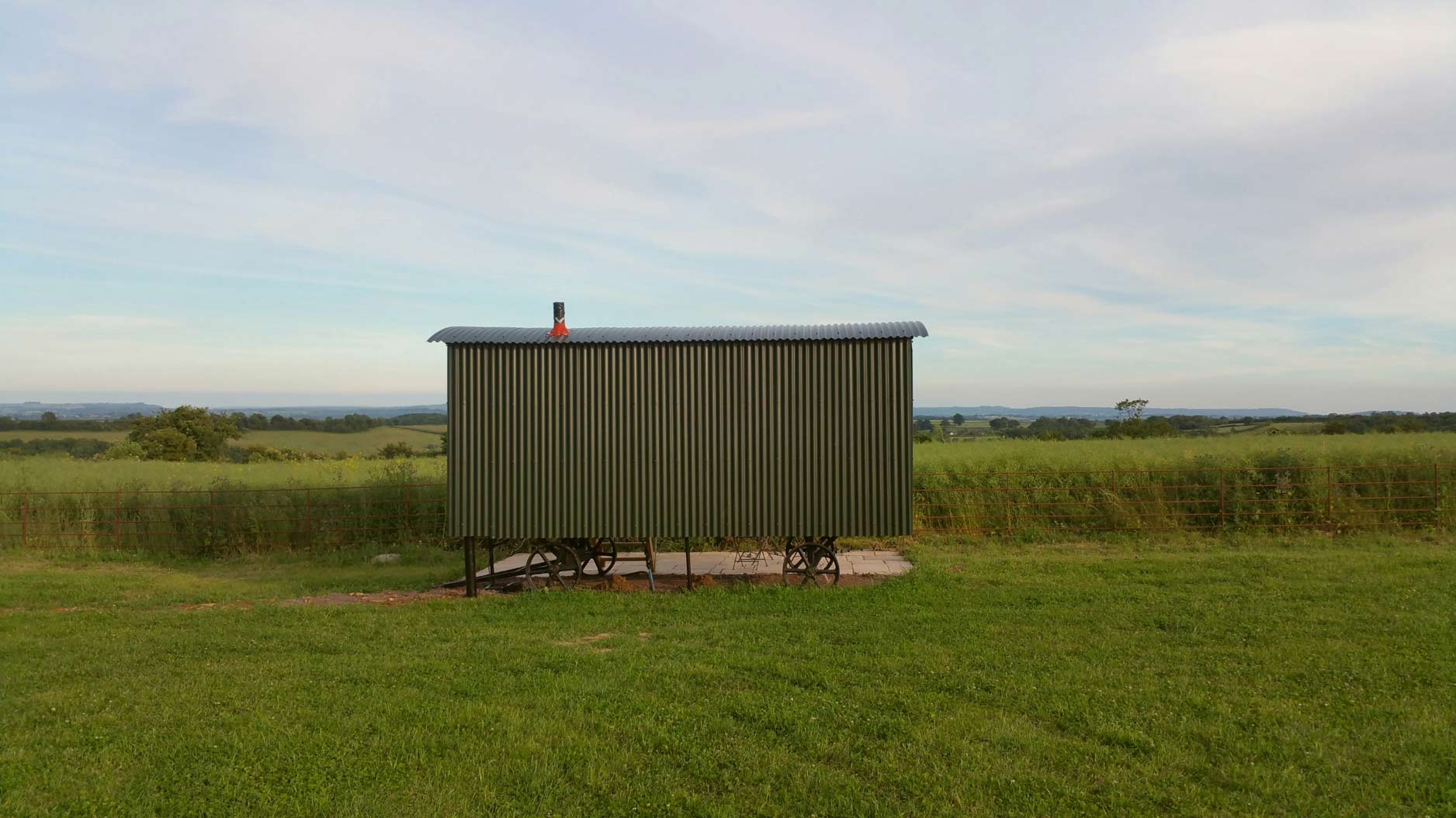 HutsUponaHill-Outside-Shepherds-Hut-Bath-Somerset-View