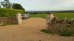 HutsUponaHill-Outside-Shepherds-Hut-Bath-Somerset-Parking