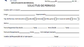 SOLICITUD PERMISOS LABORALES
