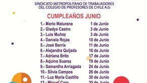 CUMPLEAÑOS DEL MES DE JUNIO
