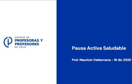 PAUSA ACTIVA SALUDABLE - 16 de diciembre