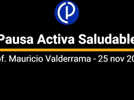 PAUSA ACTIVA SALUDABLE - 25 de noviembre