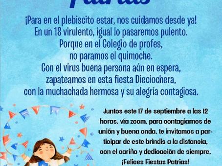 INVITACIÓN FIESTAS PATRIAS 2020
