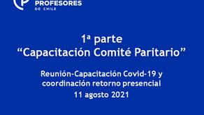 """1a parte """"Capacitación Comité Paritario"""". Reunión-Capacitación Covid-19 y coord. retorno presencial"""
