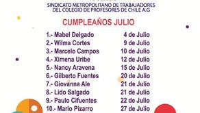 CUMPLEAÑOS DEL MES DE JULIO