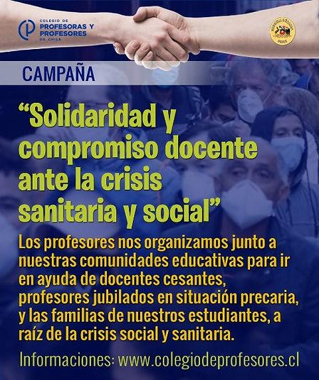 SOLIDARIDAD Y COMPROMISO DOCENTE ANTE LA CRISIS SANITARIA Y SOCIAL