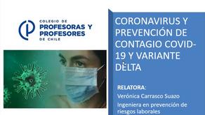 CP-Capacitación Coronavirus y Prevención de contagio Covid-19 y variante Delta