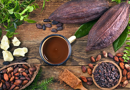 Cocoa pods, cacao beans, cocoa nibs, coc