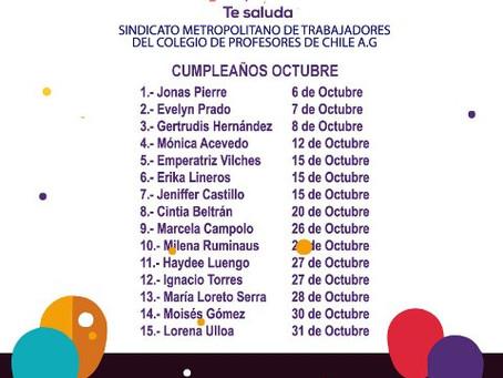 CUMPLEAÑOS OCTUBRE 2020