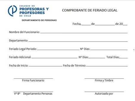 SOLICITUD FERIADO LEGAL
