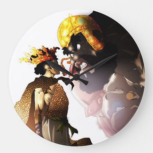Young David and Goliath Wall Clock by Isaiah Brown