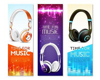 realistic-earphones-vertical-banner-set_