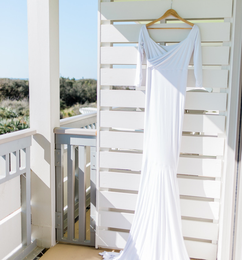 Gown perfect for 30a wedding at Eden Garden State Park