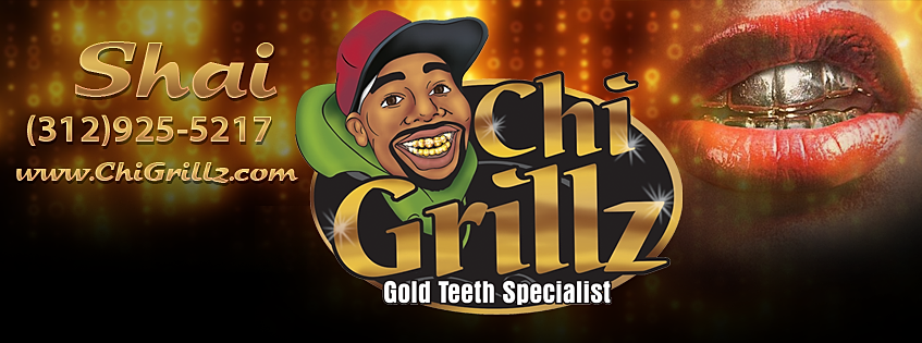 Want to buy a set of custom gold fronts?: Chi-Grillz com is
