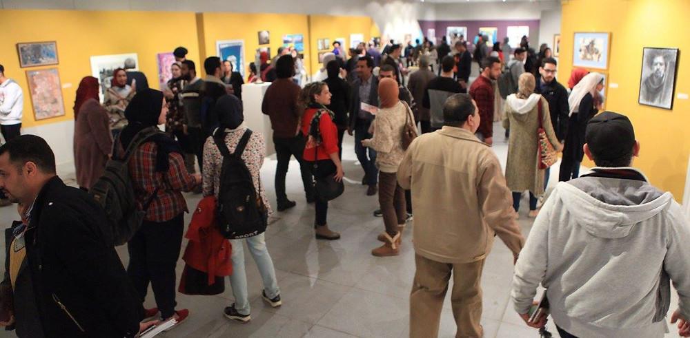 صورة من افتتاح المعرض - المصدر صفحة أدارة المعارض والمقتنيات بمكتبة الاسكندرية على الفيسبوك