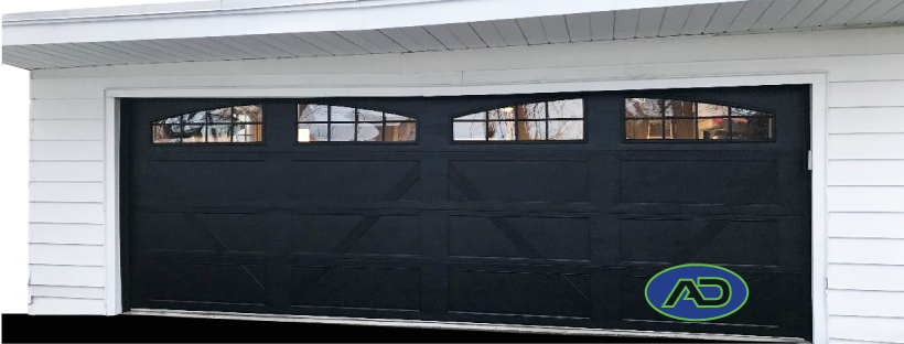 Raynor Country Manor Black residential garage door