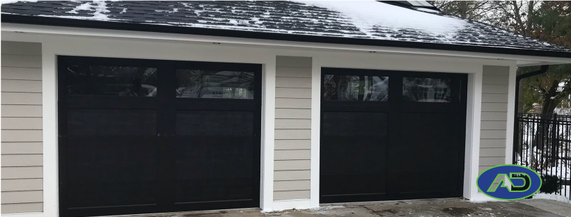 black-garage-doors