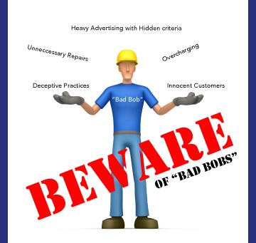 "Watch out for ""Bad Bobs"" Deceptive Practices in the Garage Door Opener Industry"