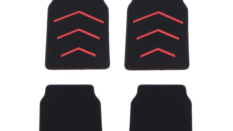 Universal carpet mar set - red and black