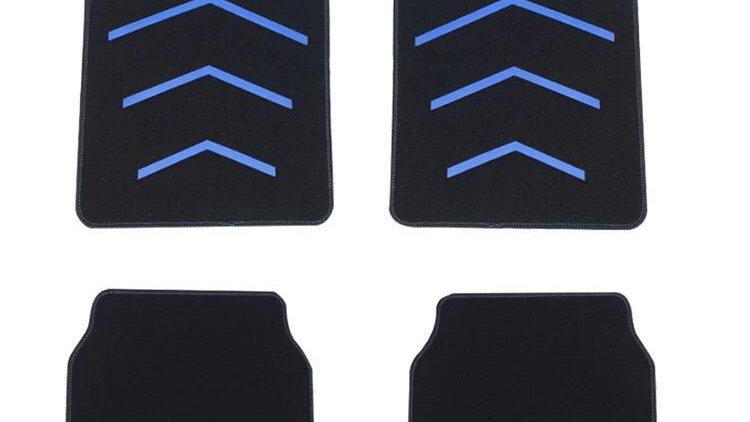 Universal carpet mat set - black blue