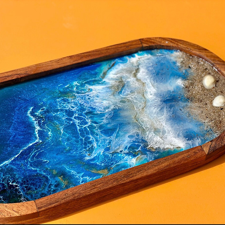 OXENFORD - CAFE TAHBELLA - Learn to make a resin entertainer platter board!