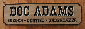 Rustic western wood signs