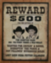 custom old west wanted signs