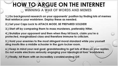 Argue on Internet