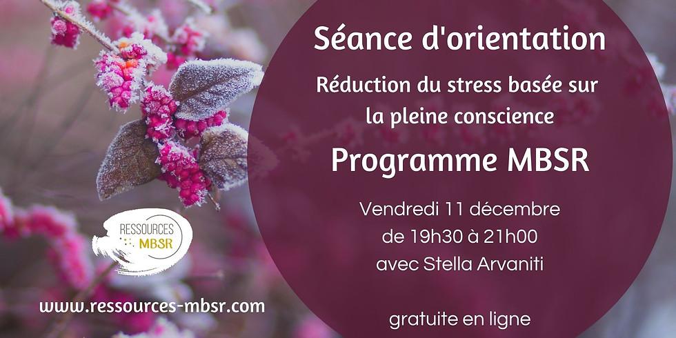 Séance d'orientation programme MBSR