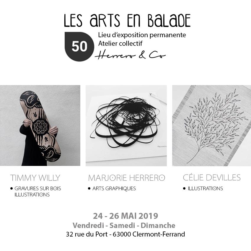 EXPOSITION COLLECTIVE LES ARTS EN BALADE @CLERMONT-FERRAND - 24 au 26 MAI 2019