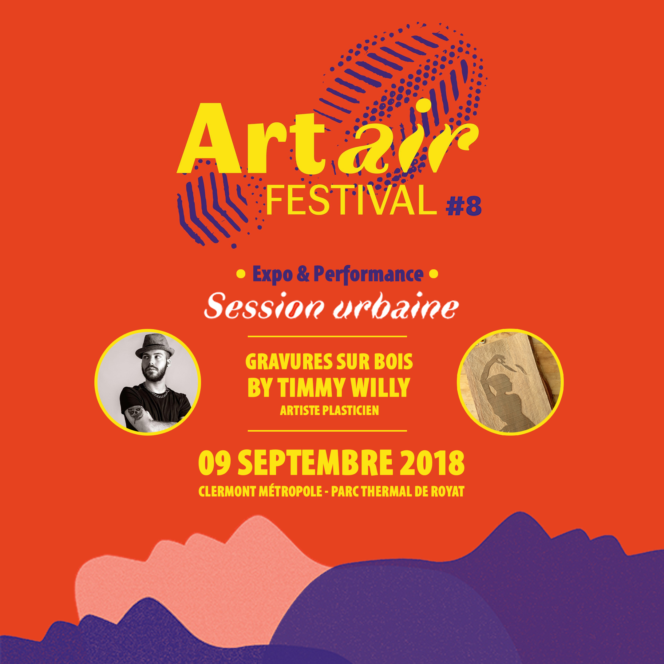 PERFORMANCE GRAVURE ART AIR FESTIVAL @ROYAT - 09 SEPTEMBRE 2018