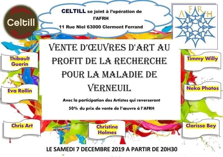 VENTE D'OEUVRES D'ART CARITATIVE @CLERMONT-FERRAND - 07 DÉCEMBRE 2019