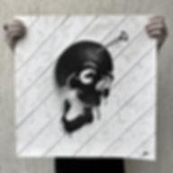 illustrations skull papier