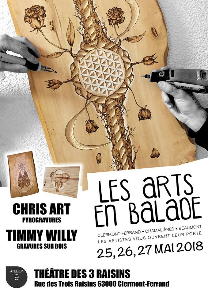 EXPOSITION COLLECTIVE LES ARTS EN BALADE @CLERMONT-FERRAND - 25 au 27 MAI 2018