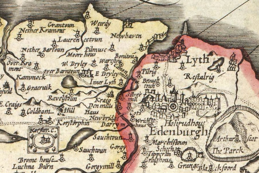 old map of N Edin