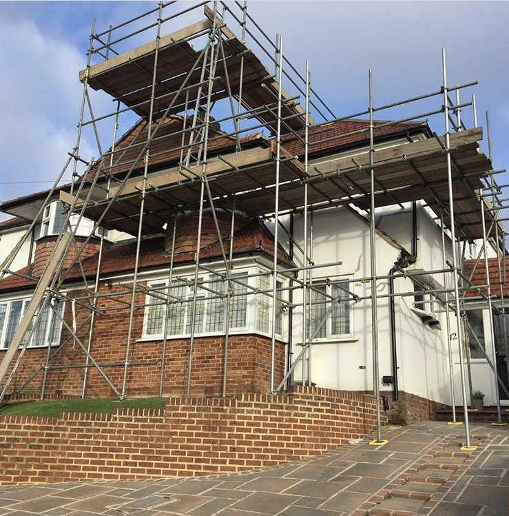 Kent Scaffolding erected for facia, soffit and minor roof repairs