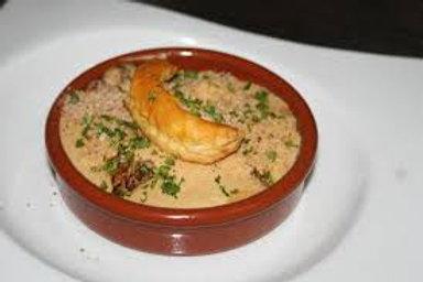 Cassolette de ris de veau braisé au champagne