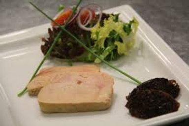 Foie gras de canard entier maison, chutney de fruit