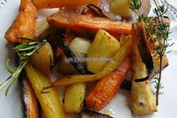 Légumes d'antan, juste étuvés au beurre