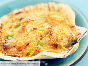 Coquille St Jacques à l'aneth