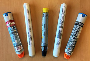 First Aid at Work Requalification Training Aids Anaphylaxsis Auto injectors