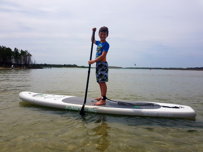 Jett showing SUP is for all ages