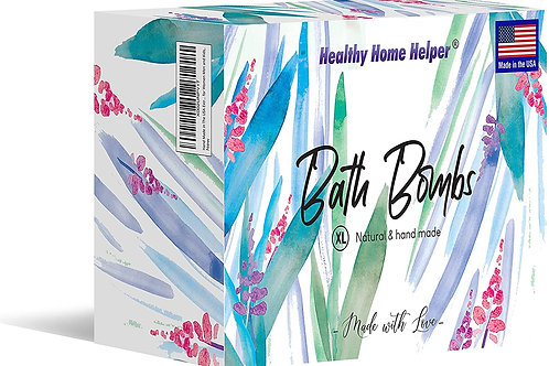 Premium Bath Bomb Set of 6, Hand-Crafted with Natural Ingredients, Shea Butter,