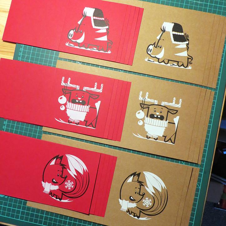 Screenprinted Christmas Cards